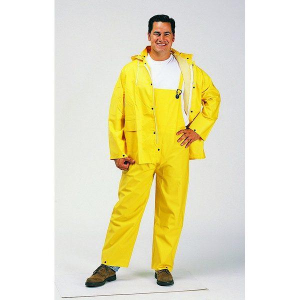 RY1220 2 Layer PVC/Poly Yellow Rain Suit