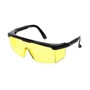 United Glove Amber Lens With Black Frame Safety Glasses