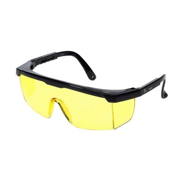 United Glove Amber Lens With Black Frame Safety Glasses