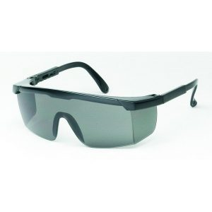 United Glove Gray Lens With Black Frame Safety Glasses
