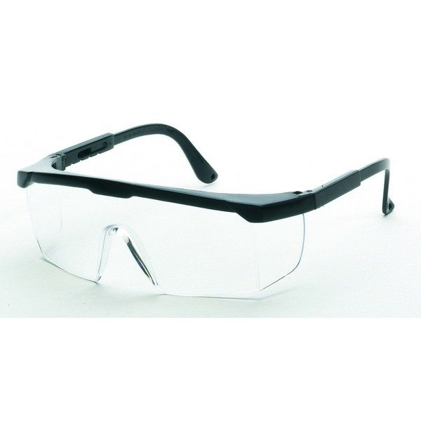 United Glove Clear Lens With Black Frame Safety Glasses