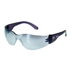United Glove Silver Mirror Lens With Gray Frame Safety Glasses