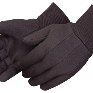 Red Lined Brown Jersey Fabric glove