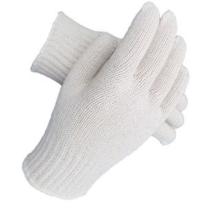 Medium Weight Seamless Knit Natural Cotton Glove