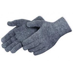 Medium Weight Seamless Knit Grey Cotton Glove