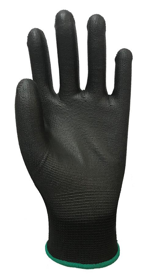 PU100BK Black Shell with Black Polyurethane Palm Coating