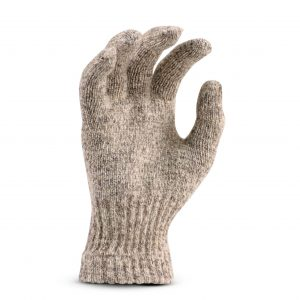 Cold Resistant Medium Weight Ragg Wool Seamless Knit Glove