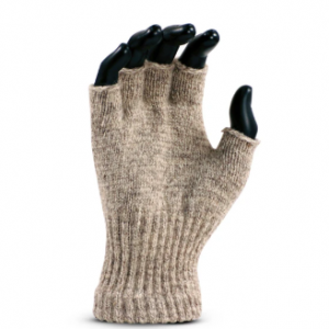Cold resistant Medium Weight Ragg Wool Fingerless Seamless Knit Glove