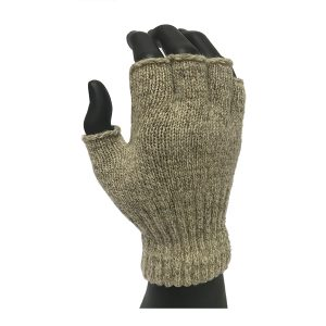 Cold resistant Ragg wool fingerless glove