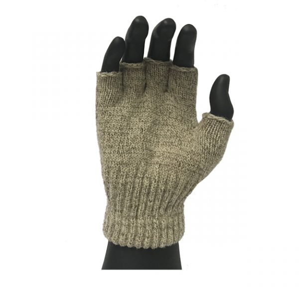 Cold resistant Ragg wool fingerless glove